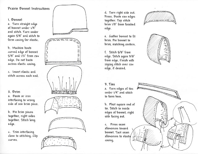 Instructions To Make Your Own Bonnet Little House Club