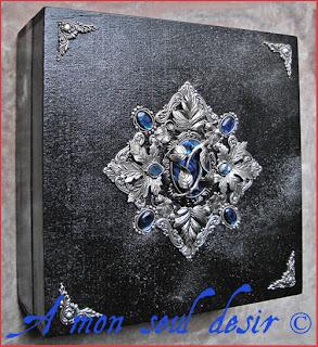 Coffret Boite à bijoux elfique médiéval Seigneur des Anneaux Lord of the Rings renaissance medieval elven jewelry box