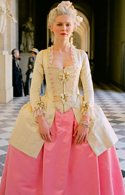 The costume for Marie Antoinette designed by Milena Canonera follows the styles of 18th century aristocracy such as a fitted corseted bodice and full ...  sc 1 st  Fashion u0026 Power & Fashion u0026 Power: Film Costume: Marie Antoinette (2006)