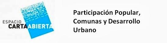 Participación Popular, Comunas y Desarrollo Urbano