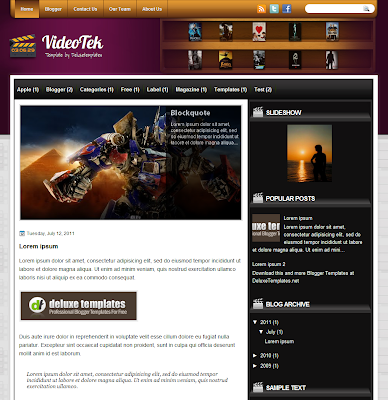 VideoTek Blogger Theme