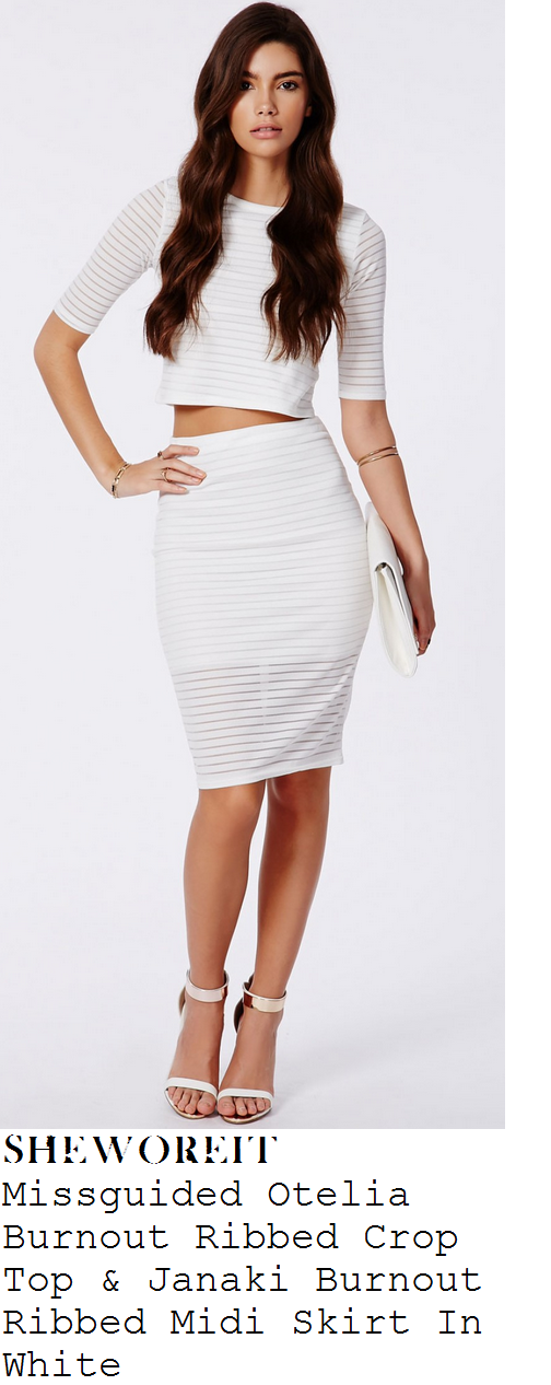 jessica-wright-bright-white-sheer-stripe-half-sleeve-crop-top-and-midi-skirt-co-ords