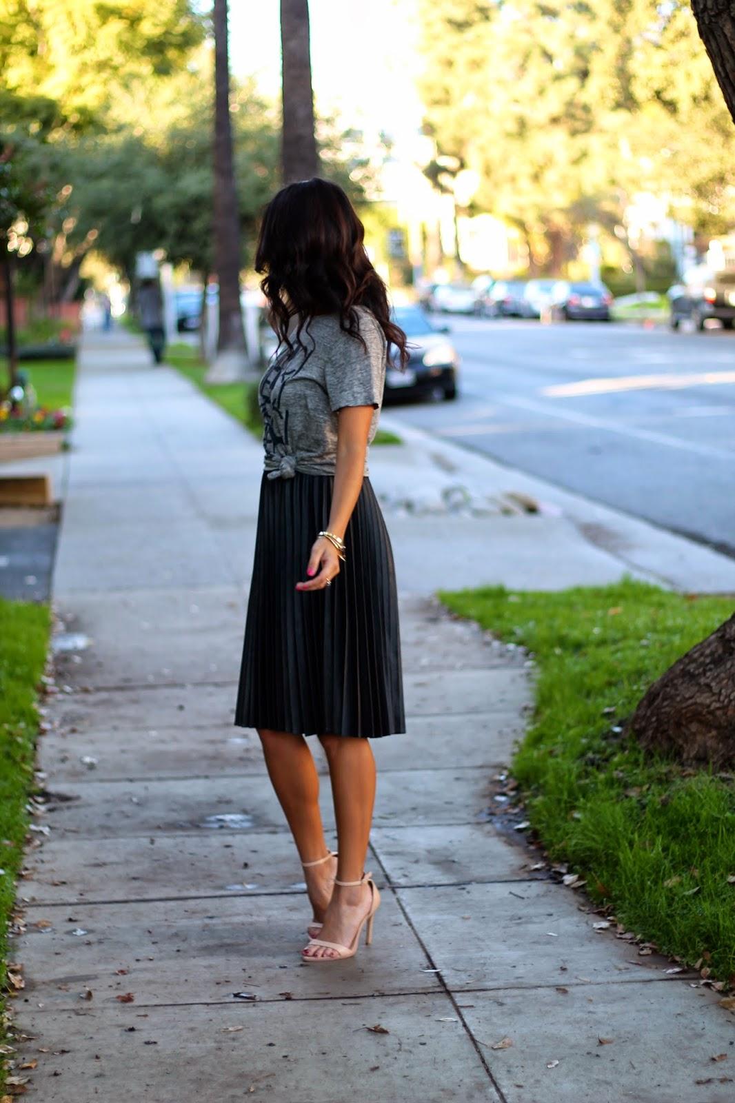 graphic shirt and skirt