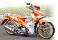modifikasi motor revo, foto modifikasi motor
