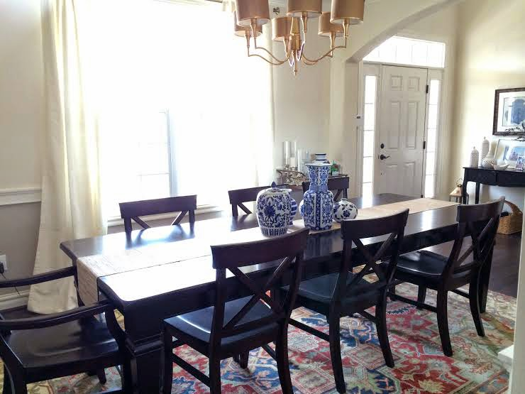 Home Decor, Gold Chandelier, Persian Rug, Aaron Chair Pottery Barn