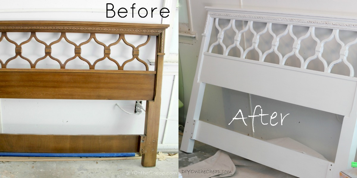 Vintage headboard makeover erin spain for Painted on headboard