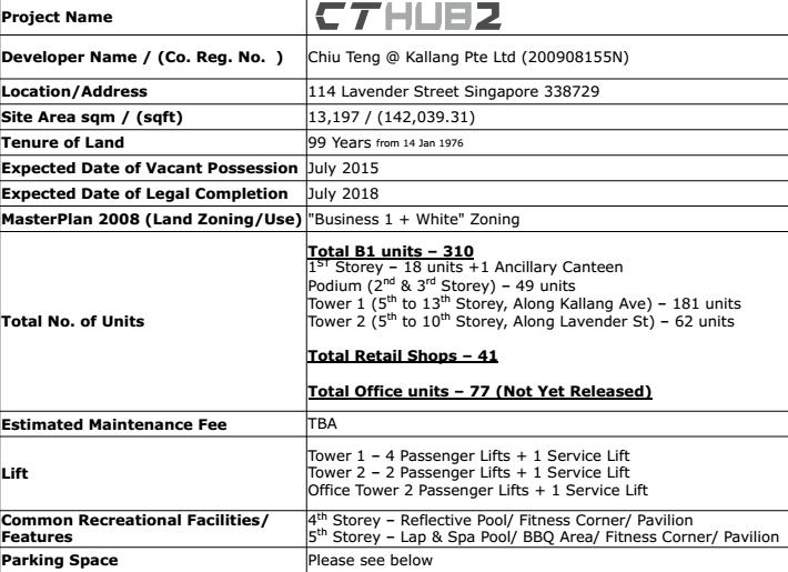 CT HUB 2 Kallang Avenue details