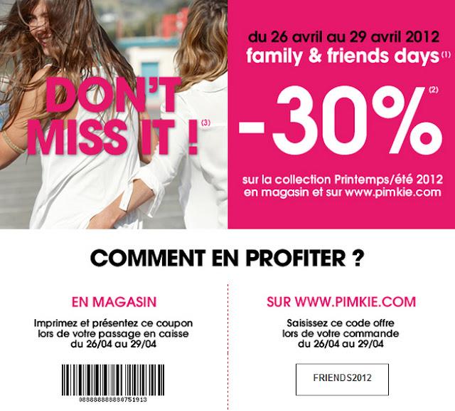 - 30% dans les magasins Pimkie ou sur le site Pimkie Mademoiselle Bons Plans