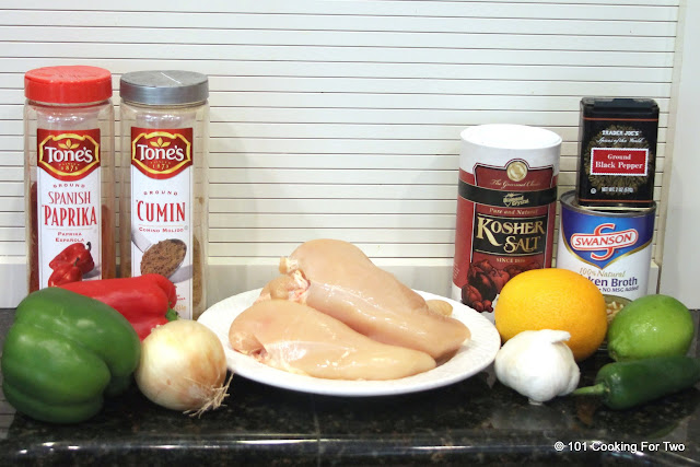 ingrediants Chicken Carnitas AKA Carnitas de Pollo  from 101 Cooking For Two