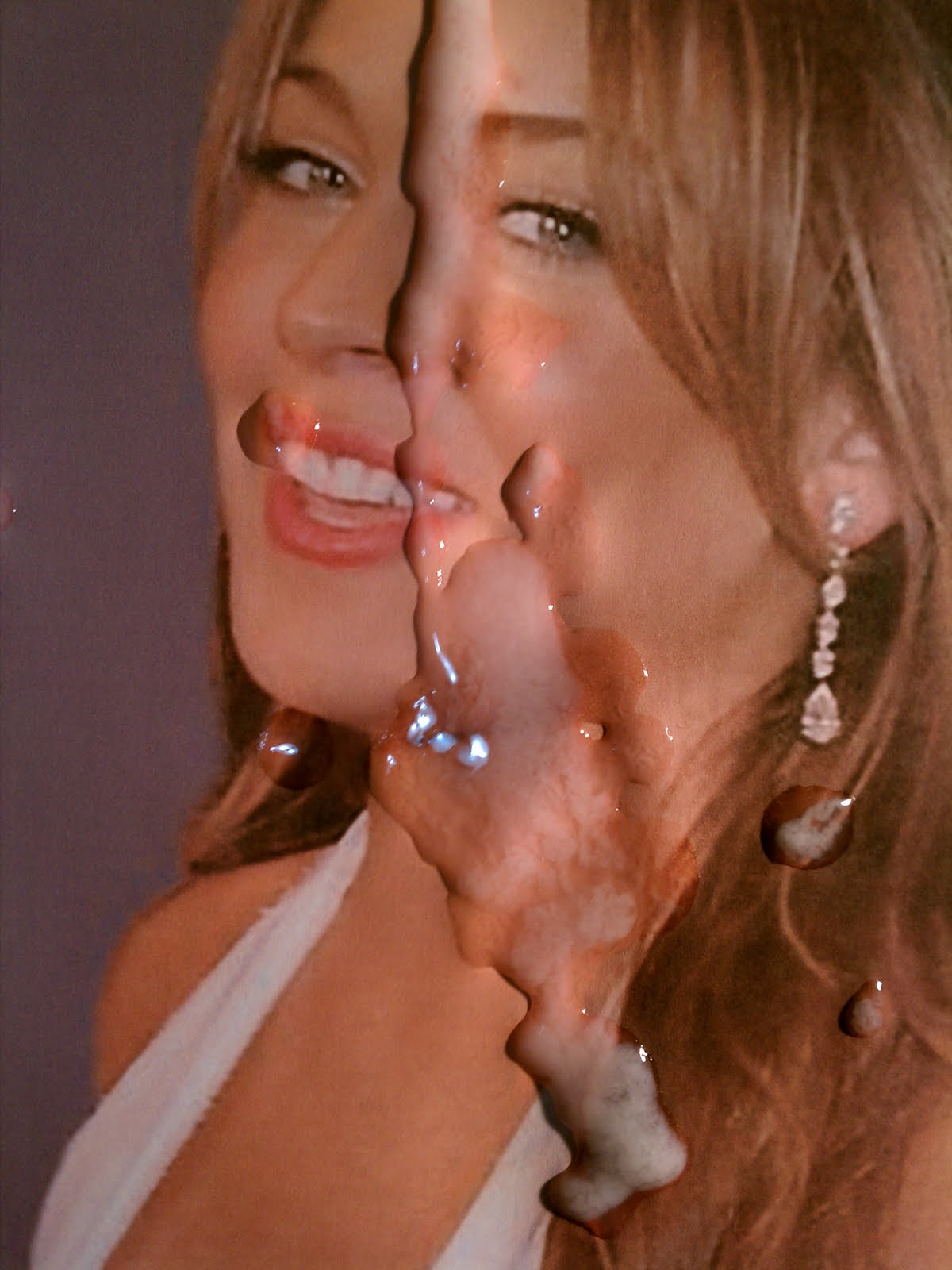 lindsay lohan with cum on her face