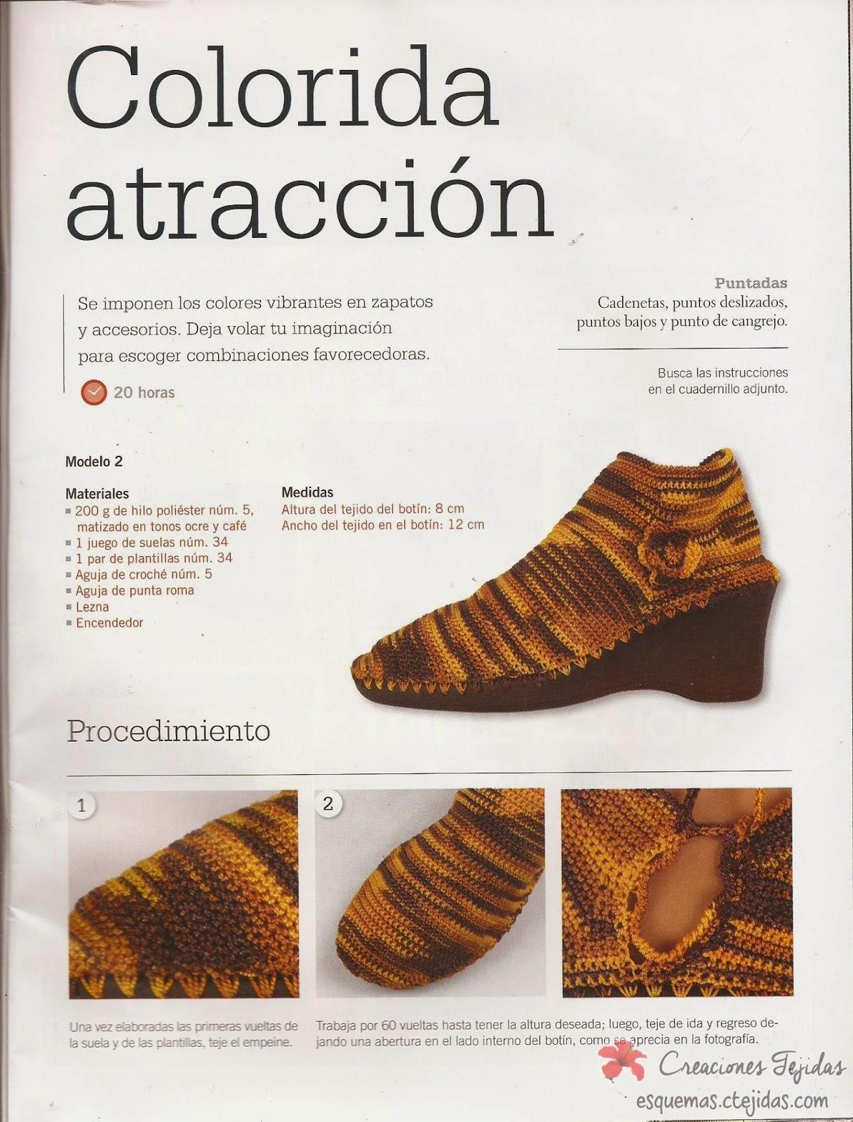 Zapatos a Crochet | Botines en Punto Bajo