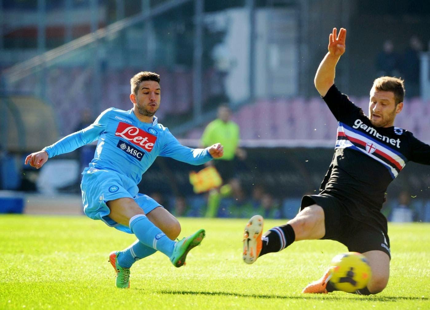 Tip kèo cá cược Napoli vs Sampdoria