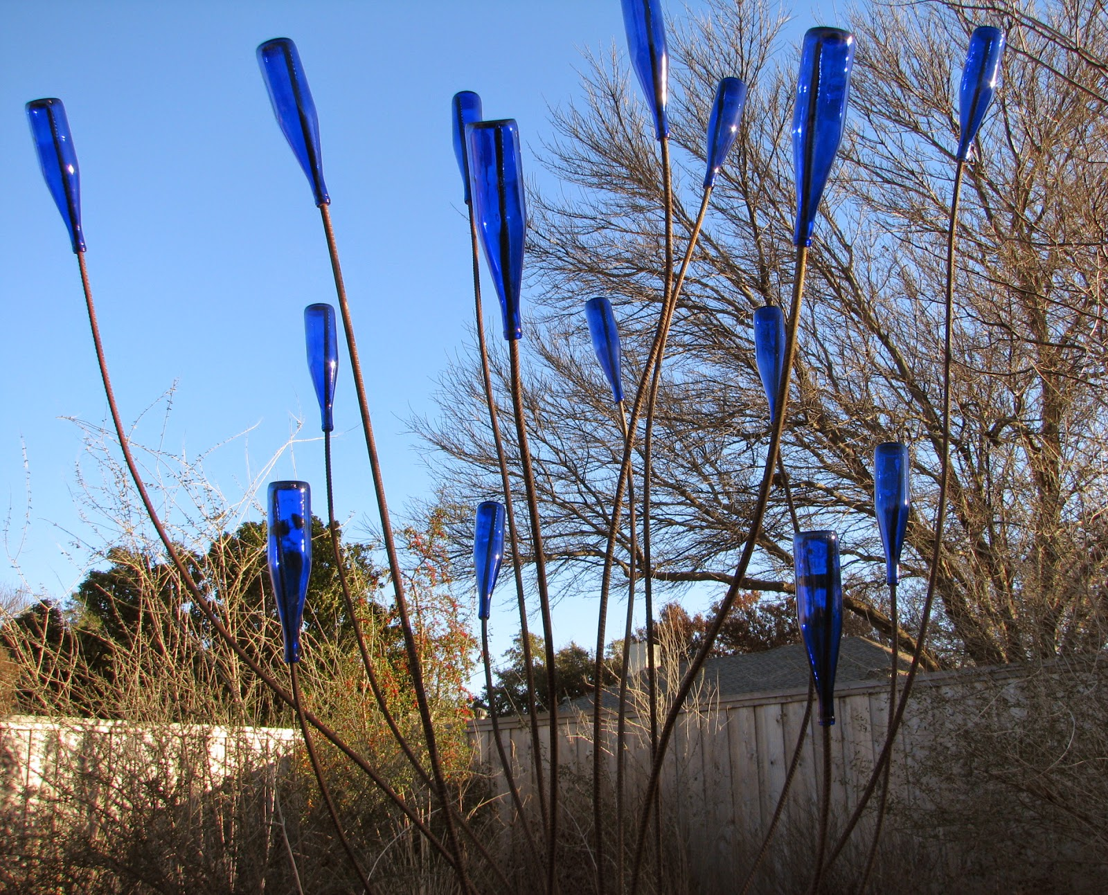 bottle trees have been popular in gardens in recent years click here for some historical background instead of a bottle tree i call my creation a bottle