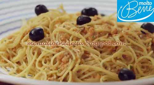 Spaghetti al pesto siciliano ricetta Parodi per Molto Bene su Real Time