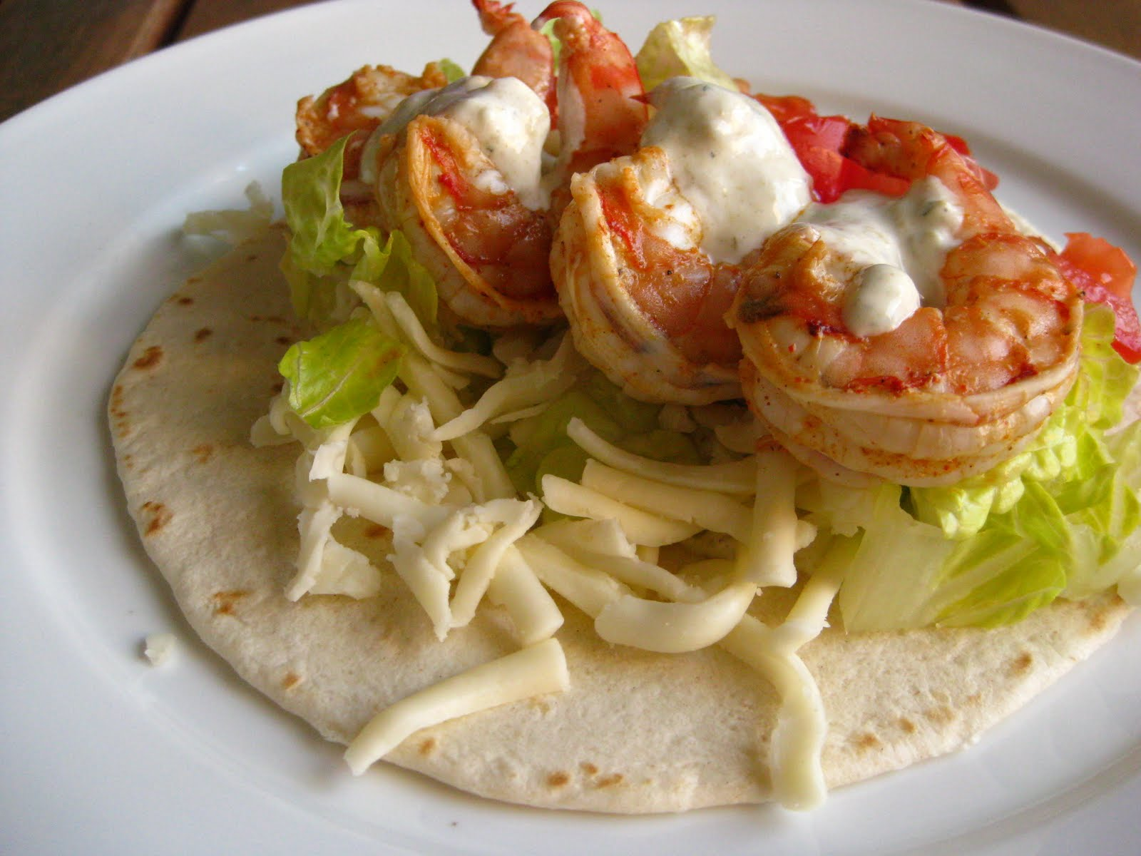 Shrimp Tacos with Jalapeno-Ranch Sauce