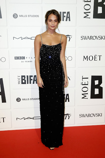 Actress, @  Alicia Vikander - The Moet British Independent Film Awards in London