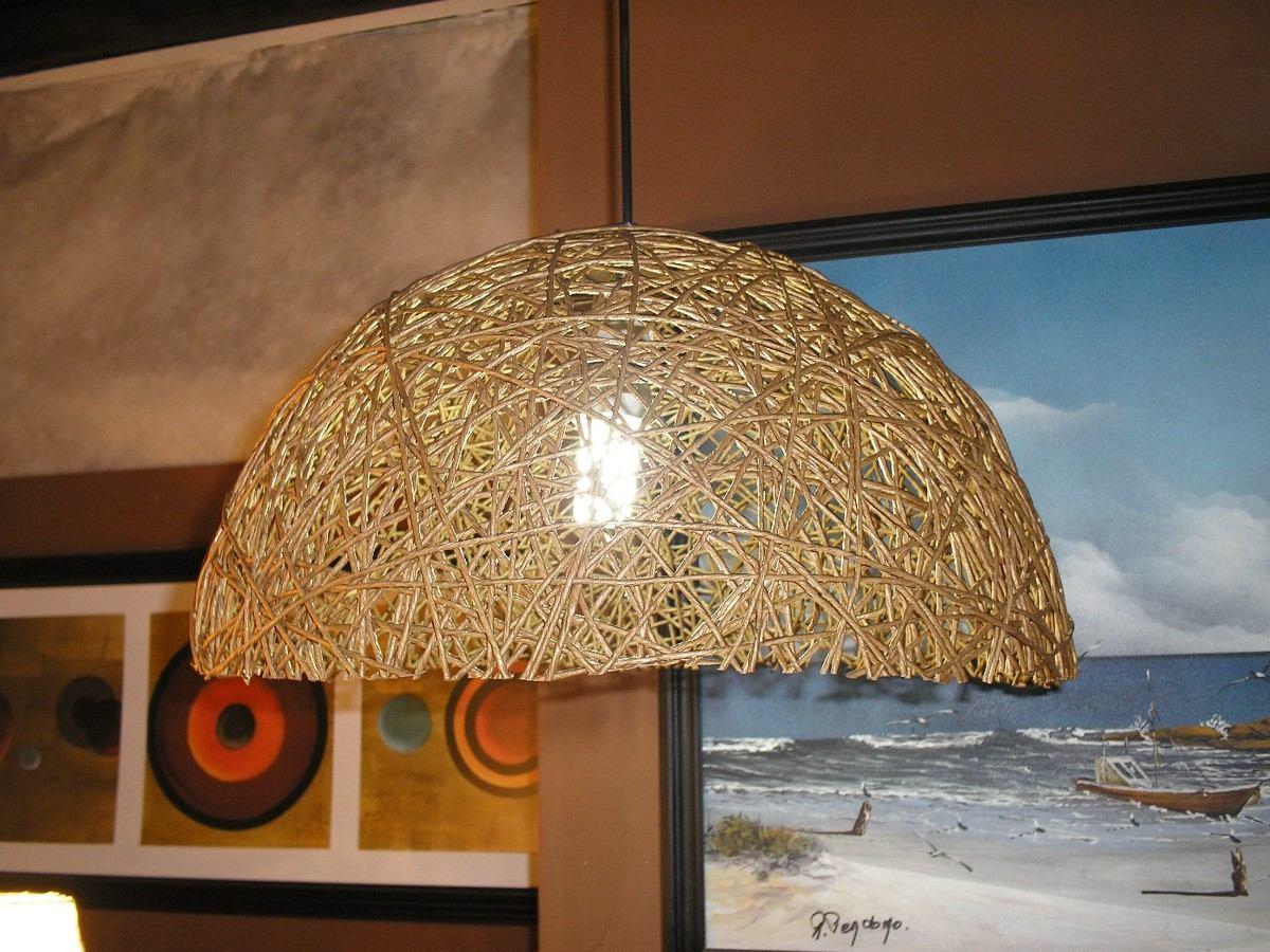 Con cosas de casa l mparas con cuerda - Como hacer lamparas de techo artesanales ...