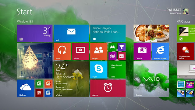 start screen Windonws 8.1