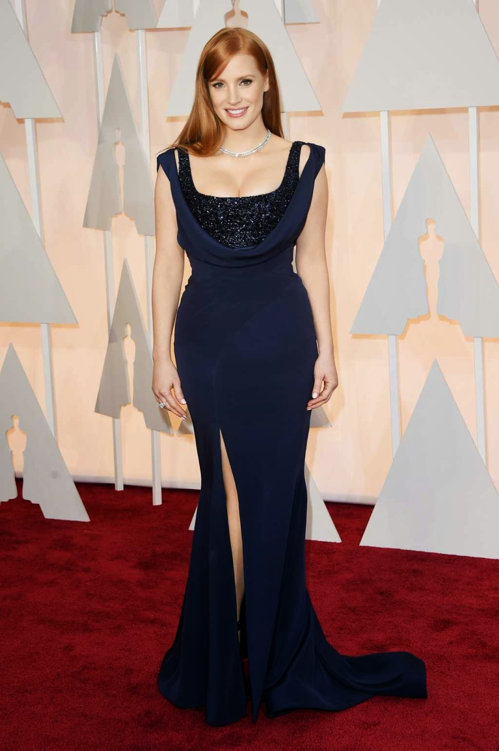 Jessica Chastain is glamorous in Givenchy Couture at the 2015 Oscars in Hollywood