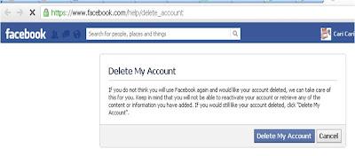 Cara Menutup Akun Facebook Permanen