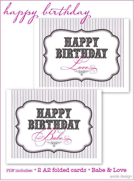 Laine Design More Free Birthday Cards Printables – Birthday Cards Pdf