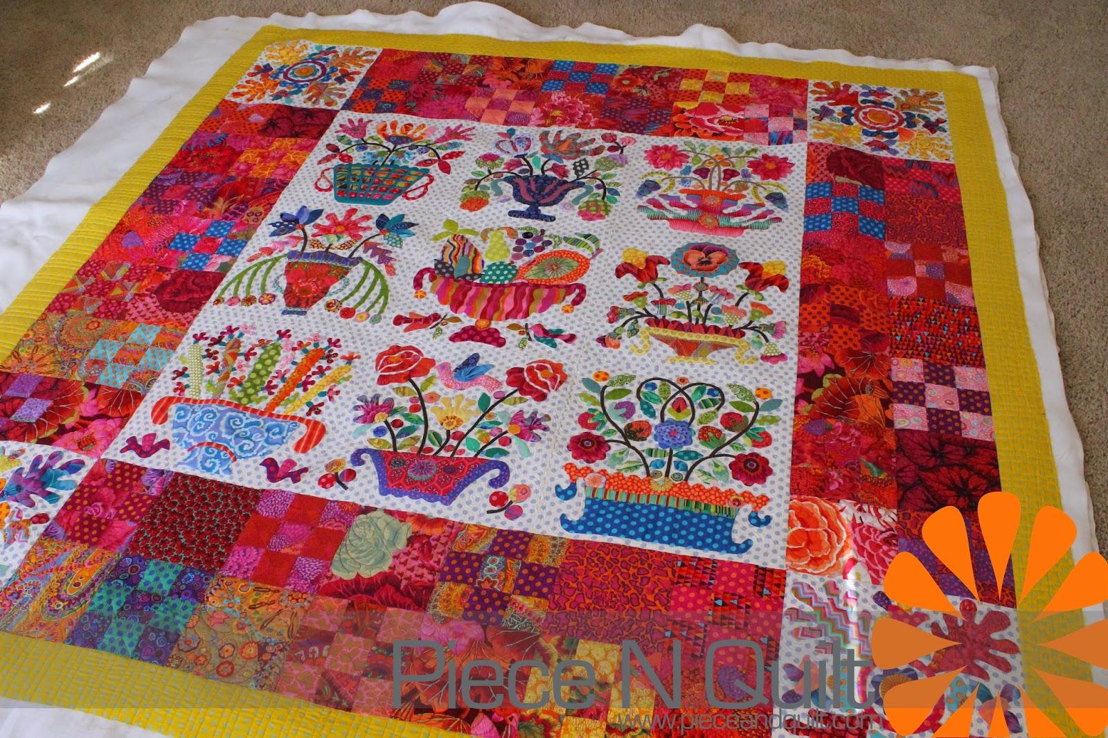 Piece n quilt: free motion quilting an applique quilt