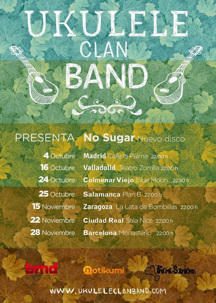 Ukulele Clan Band anuncia gira de presentación de su nuevo disco No Sugar