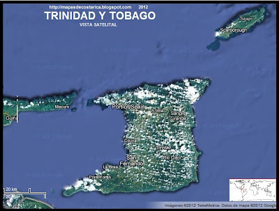 TRINIDAD Y TOBAGO, Vista Satelital de Google Maps