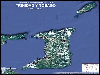 TRINIDAD Y TOBAGO, Vista Satelital de Google Maps