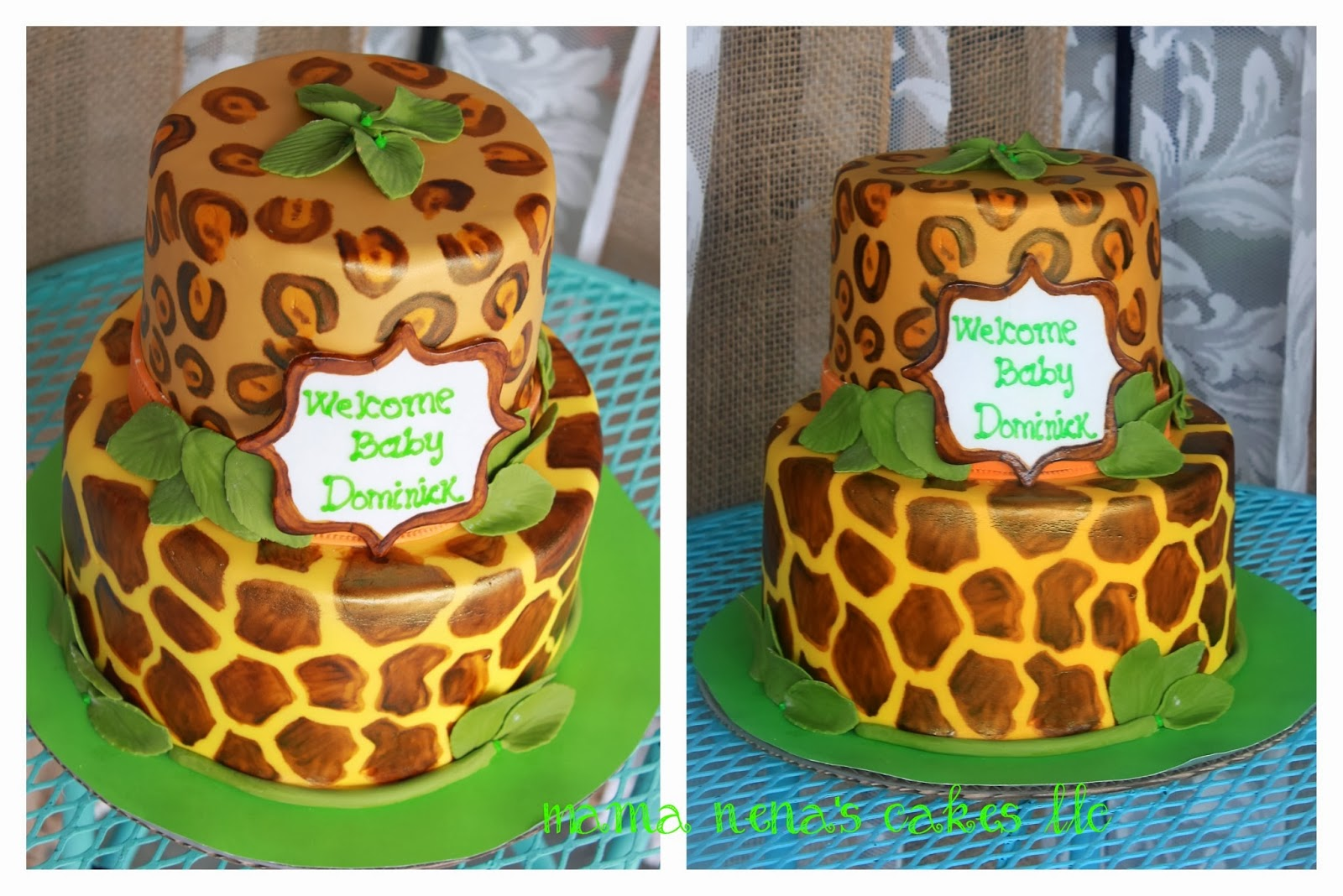 lion king theme baby shower cake
