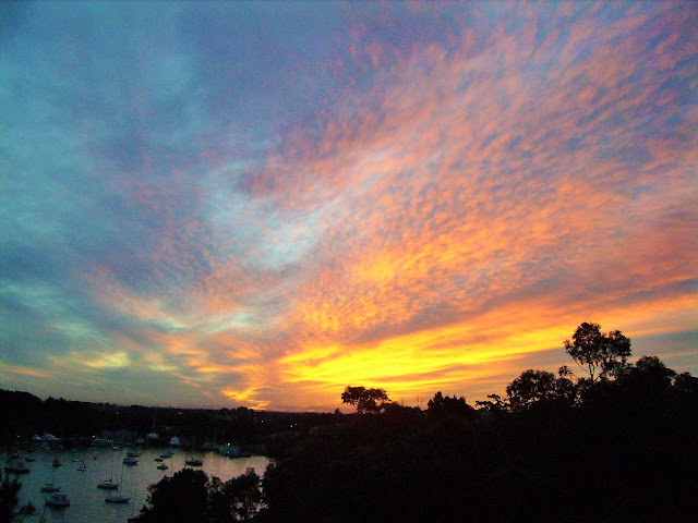 Sydney harbour sunset Australia