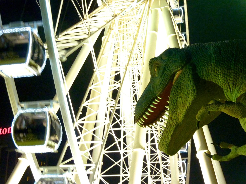 Parque de dinosaurios en Clifton Hill