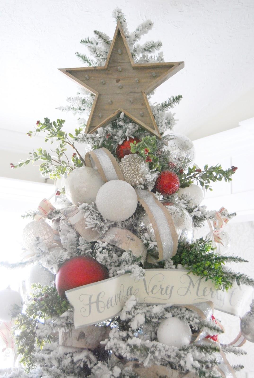 11 magnolia lane holiday open house home by heidi 11 for Arboles de decoracion