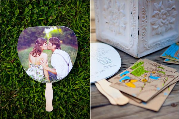 Use One Of The Pretty Images Below For Inspiration To Make Your Own Fans Or Print Free Templates I Designed A Quick And Easy Wedding Day Diy