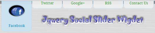 jquery social slider widget