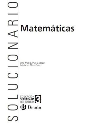 Solucionario Matemáticas 3º Eso Ed. Bruño   MÁS QUE APUNTES