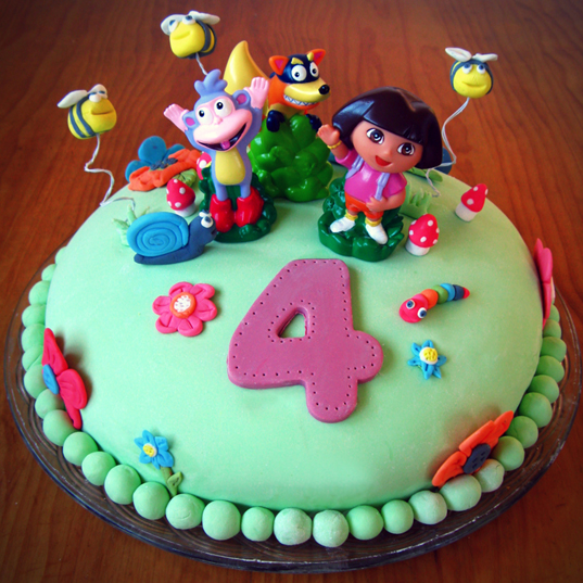 Cake Designs Dora The Explorer : Linno-Yum: Kids  Birthday Cake: Dora the Explorer!