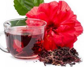Foto do chá de hibisco benefícios para emagrecer