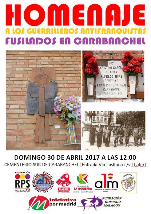 30 abril  a los antifascistas fusilados
