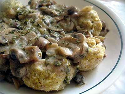 Ricotta Dumplings with Best-Ever Mushroom Sauce