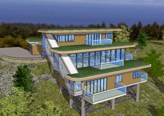good house plans for downward sloping lots #2: mountain-home-plans