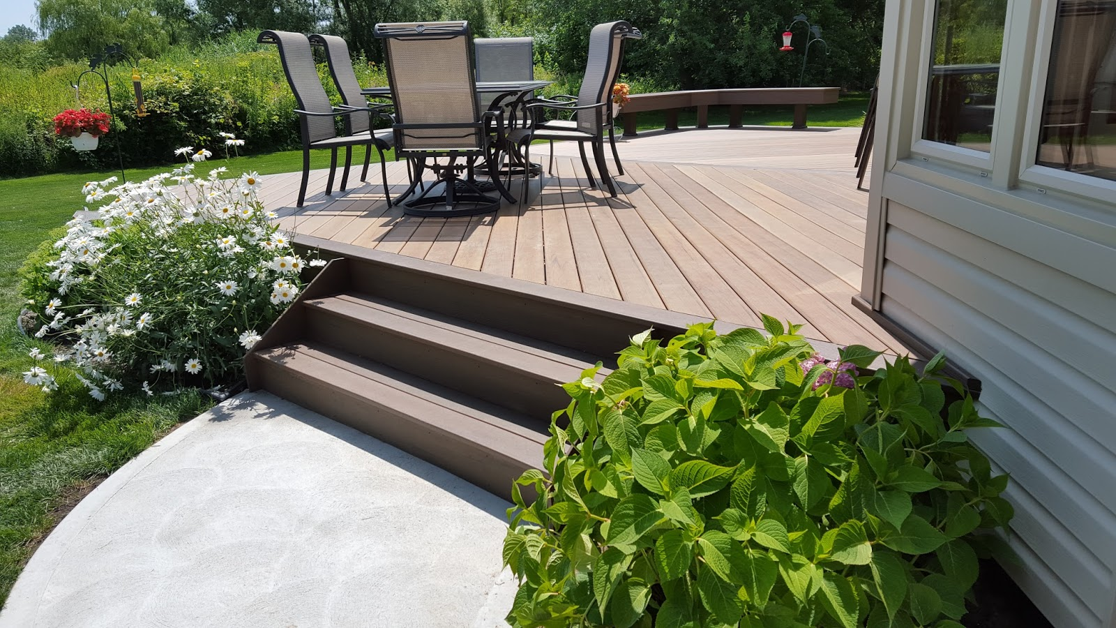 Outdoor living how to build a low to the ground deck part 2 for How to build a low deck