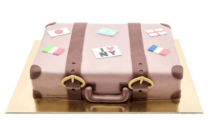 Luggage cake  big picture