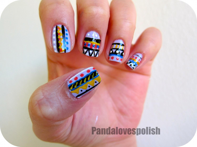Panda Loves Polish Tribal Nails