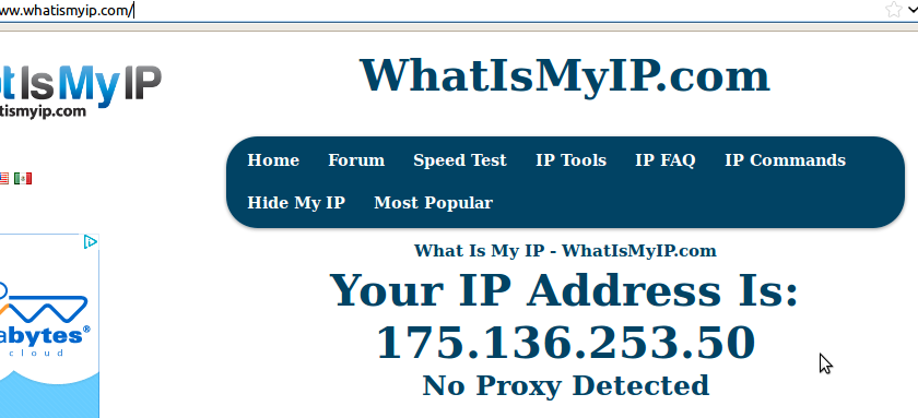 how to know internet ip address