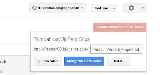 peta situs, sitemap blog