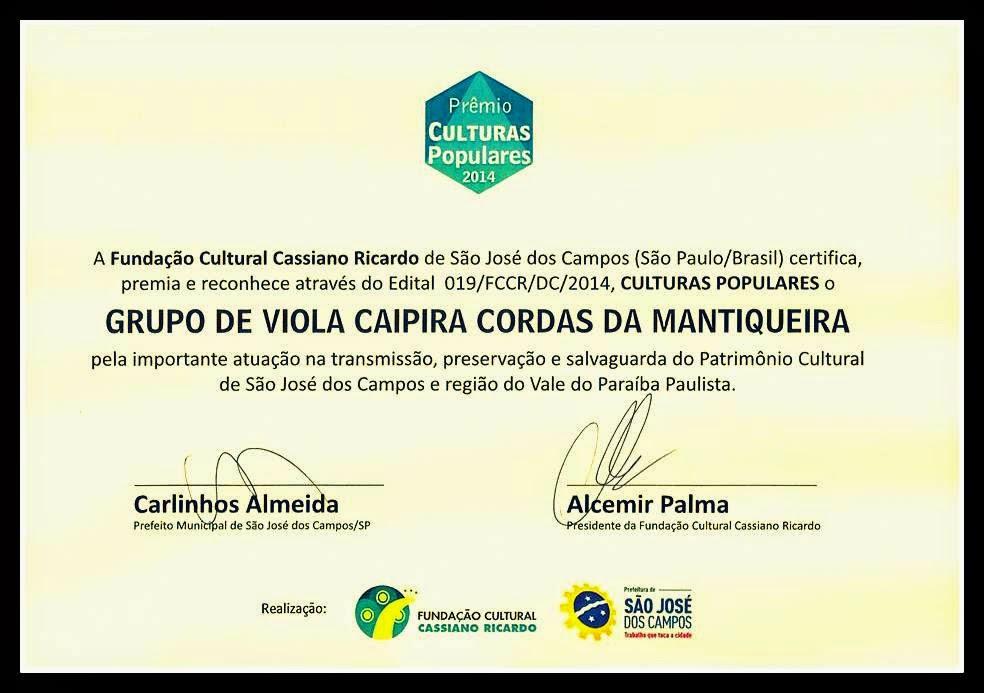 Certificado Culturas Populares