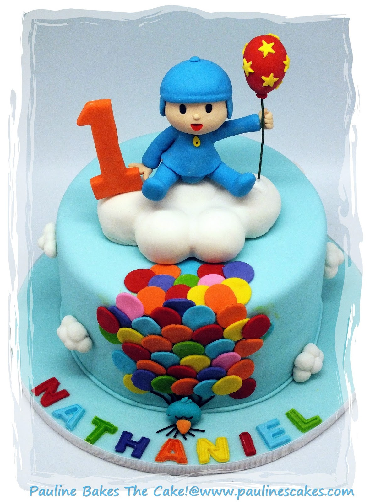 Pauline Bakes The Cake Hola Its Pocoyo Up Up Away With