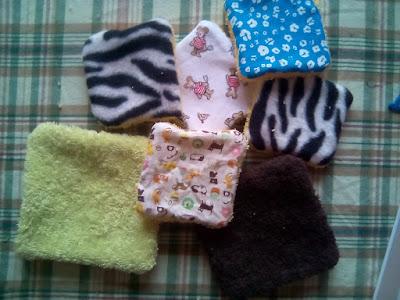 coudre lingettes lavables maternage couture polaire DIY recyclage