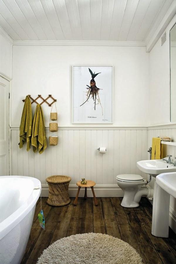 Stark White Bathroom Ceiling